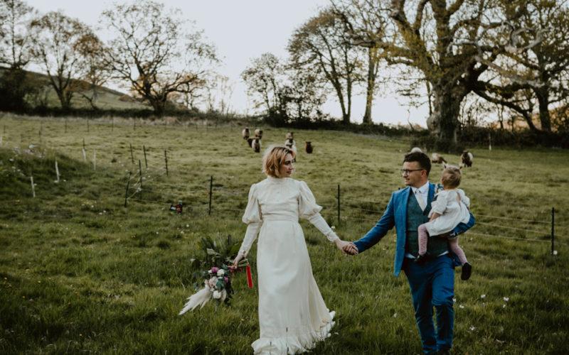 Devon wedding couple shoot bride groom
